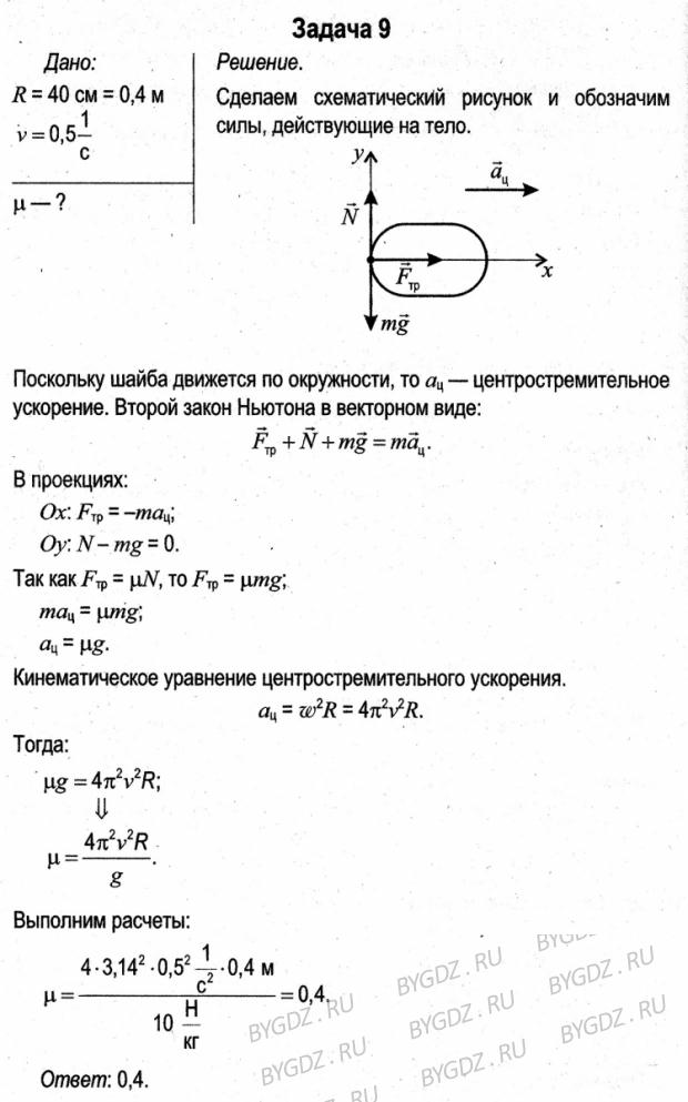 Задач решебник к физике 9 л.а. класс сборнику исаченкова по